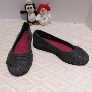 Blowfish canvas pleated ballerina shoe
